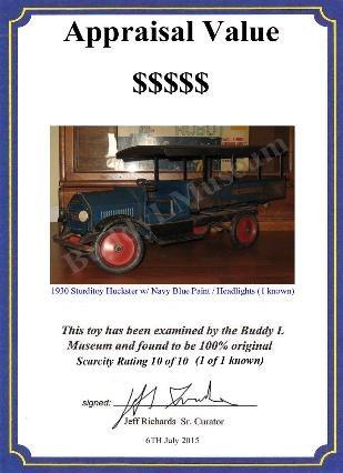 antique buddy l trucks wanted, buying sturditoy trucks, ebay toy appraisals, free antique toy car appraisals, free space toys appraisals, rare space toys for sale, keystone toy truck ebay